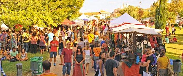 EcoAltea - Craft stalls of the fair.