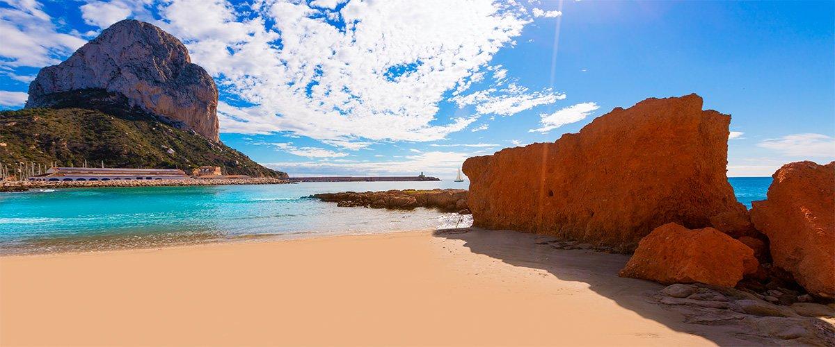 Abahana Villas - Peñón aus Ifach vom Strand von El Cantal Roig Calpe.