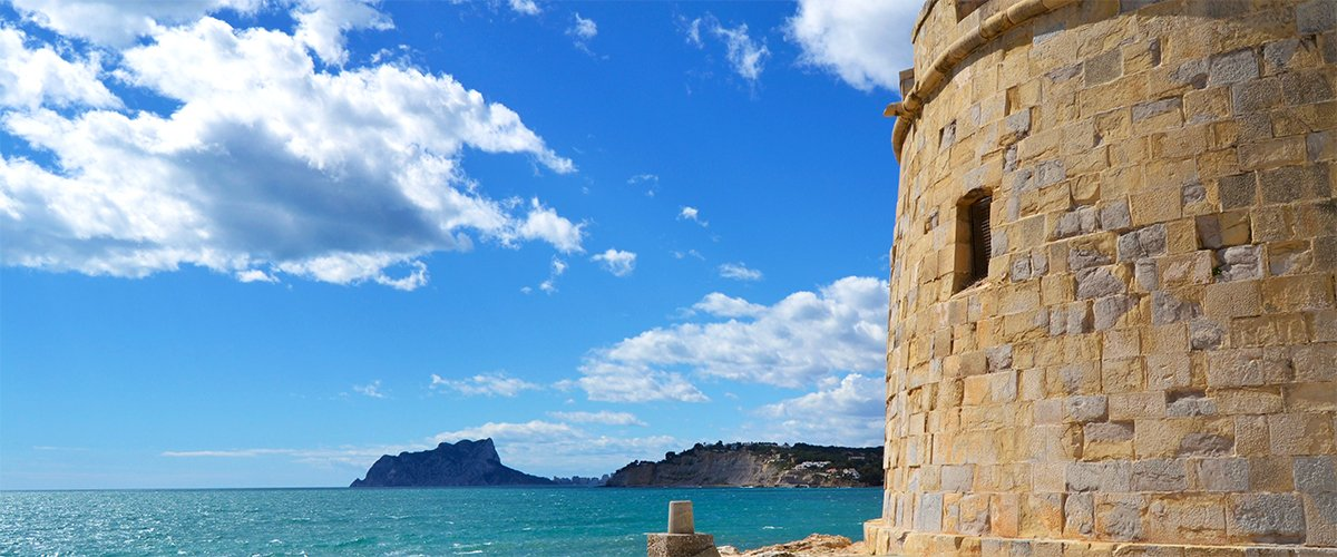 Abahana Villas - Views of Calpe from the castle of Мoraira.