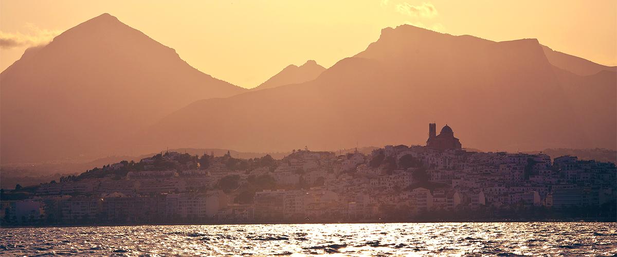 Abahana Villas - Sunset in the bay of Altea.