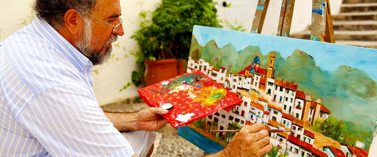 Abahana Villas - Painter in Altea.