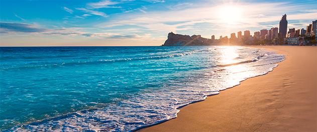 Abahana Villas - Пляж Пониенте на закате.