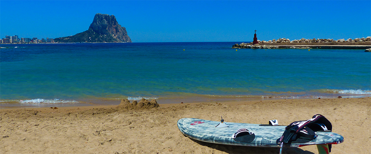 Abahana Villas - View of the Rock of Ifach from the White Port Beach in Calpe