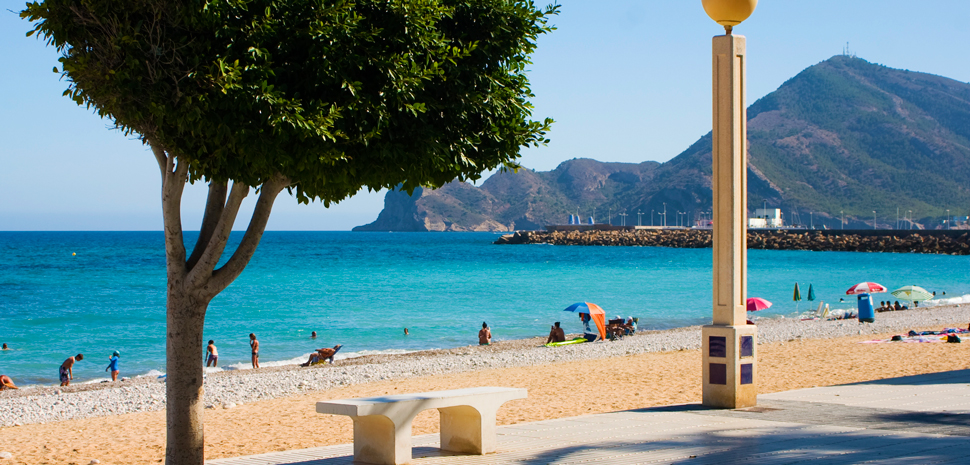 Abahana Villas - Views to Serra Gelada from the Beach of La Roda de Altea.