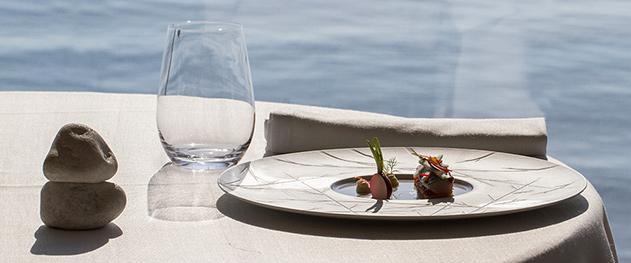 Abiss - Detalle gastronómico del restaurante.