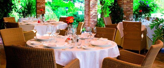 Casa del Maco - Terraza cubierta del restaurante.