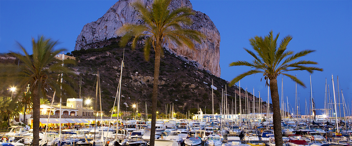 Abahana Villas - Port and Rock of Ifach of Calpe at dusk.