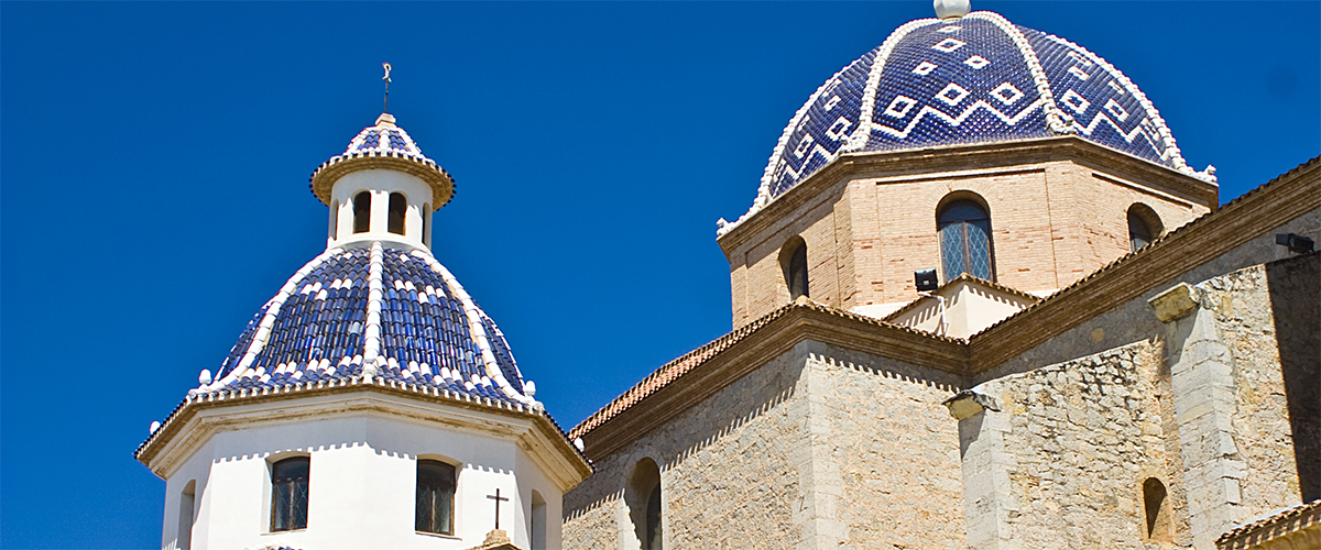 Abahana Villas - Blue domes of the Church in Altea.