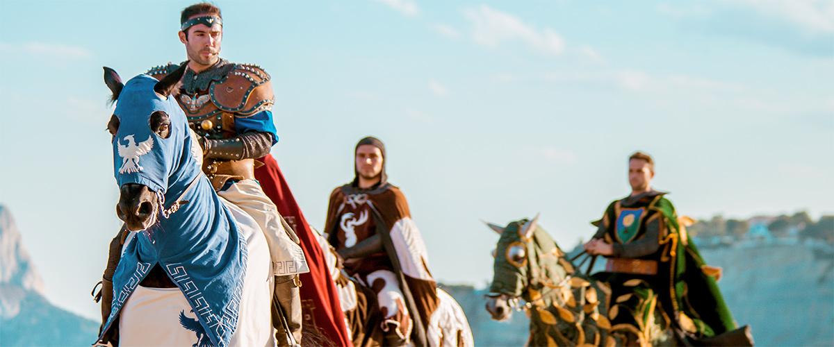Abahana Villas - Espectáculo con caballos de la reconquista en la playa de Moraira.